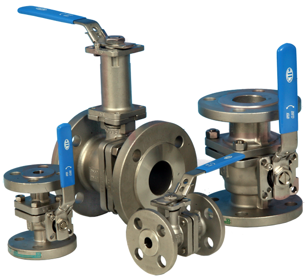 2-Pce Full Bore Flanged DIN PN40 Stainless Steel Direct Mount Ball Valve NTC KV-L6N PN40