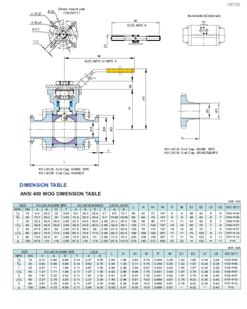 PDF for Stainless Steel 3-Pce Full Bore Sanitary Cavity Filled Direct Mount Ball Valve NTC KV-L91B