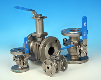 2-Pce Stainless Steel Full Bore Flanged DIN PN40 Direct Mount Ball Valve NTC KV-L6N PN40