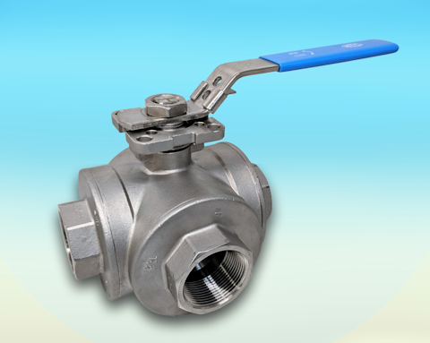 stainless steel 3-Way Full Bore BSP Screwed Direct Mount Ball Valve