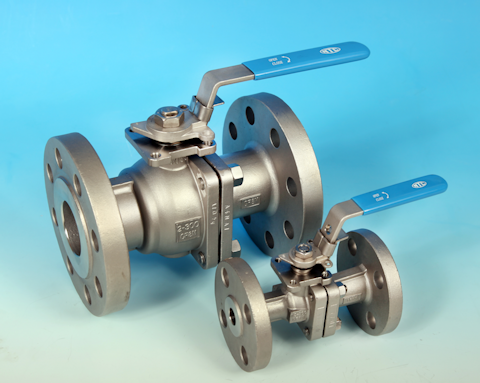 stainless steel 2-Pce Full Bore Flanged ANSI 300 Ball Valve