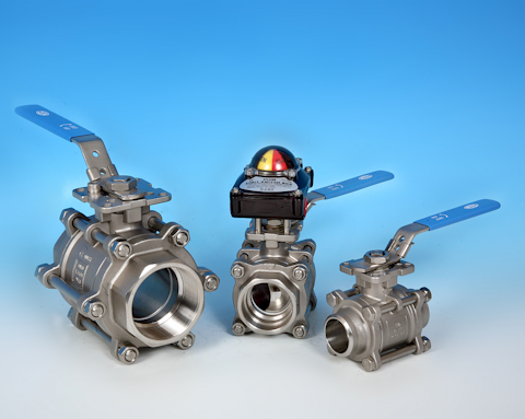 stainless steel 3 Piece Full Bore Direct Mount Ball Valve