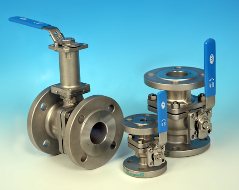 stainless steel 2-Pce Full Bore Flanged ANSI 150 Direct Mount Ball Valve