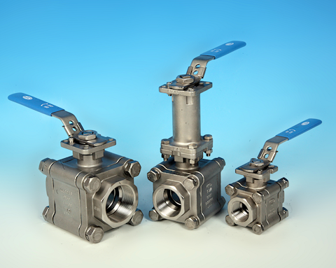stainless steel 3-Pce Full Bore Heavy Duty Stainless Steel Direct Mount Ball Valve