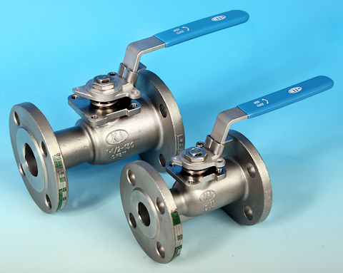 stainless steel 1-Pce Reduced Bore Flanged ANSI 150 Ball Valve